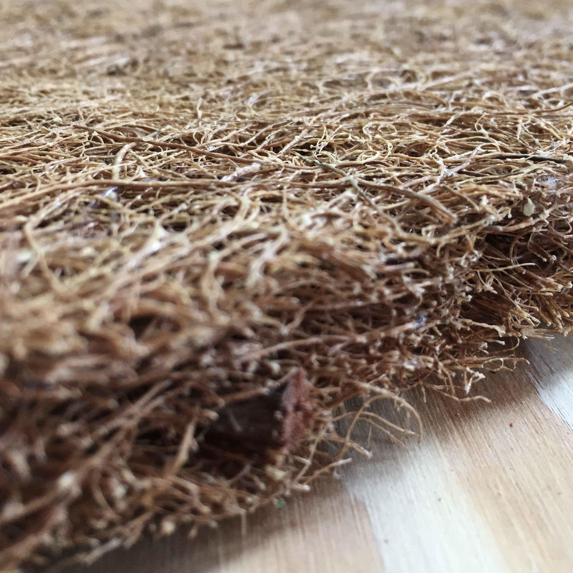 Plaat van kokosvezel met natuurlijke latex